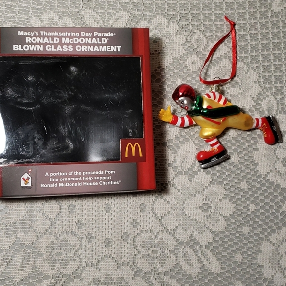 Ronald McDonald Christmas ornament